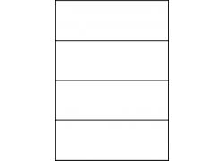 Planche A4 étiquette 210 x 74.2 mm