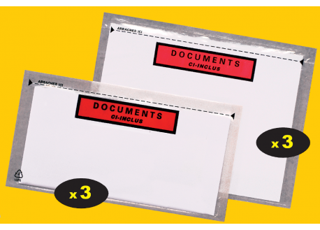 Pochettes adhésives porte-documents