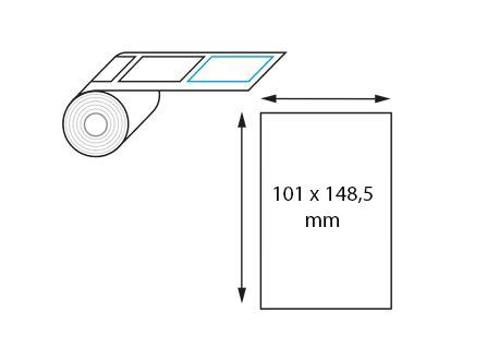 Etiquettes Ultra-adhesives Polypro blanc Brillant pour transfert ruban thermique