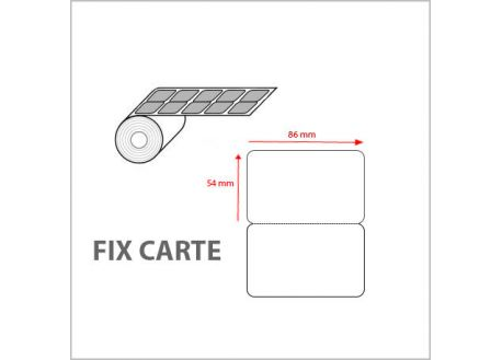 Fix' Carte - carte adhésive à contre-coller
