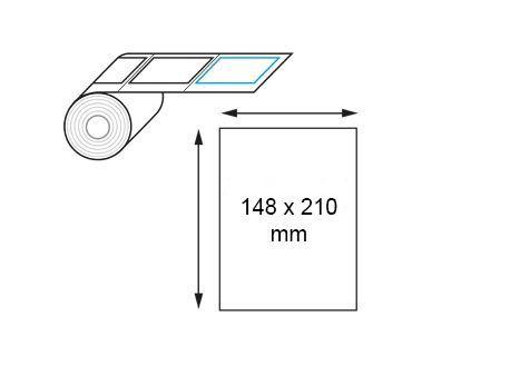 Étiquettes 148 x 210 mm transfert thermique polypropylène en rouleau