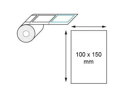 Étiquettes 100 x 150 mm thermique direct en rouleaux