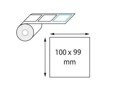 Étiquettes 100 x 99 mm thermique direct en rouleau