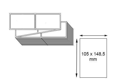 Étiquettes 105 x 148,5 mm thermique direct en zig-zag