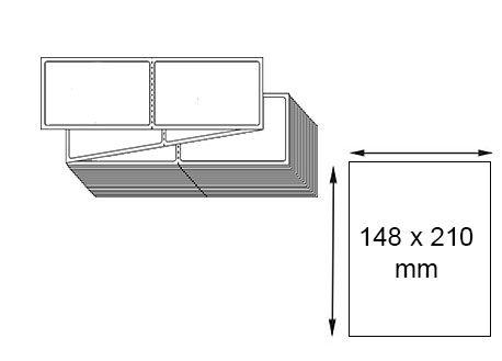 Étiquettes 148 x 210 mm thermique direct en zig-zag