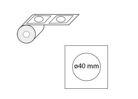 Étiquettes rondes ø40 mm jet d'encre et laser en rouleaux
