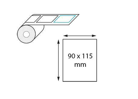 Étiquettes en velin mat 90x115 mm jet d'encre