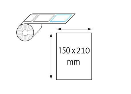 Étiquettes 150 x 210 mm neutres en rouleau