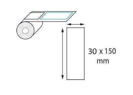 Étiquette 30 x 150 mm neutre en rouleau