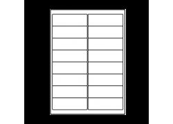 Planche A4 étiquettes 99 x 33,9 mm
