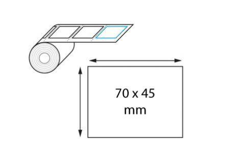 Étiquette logistique 70 x 45 mm thermique direct en rouleaux