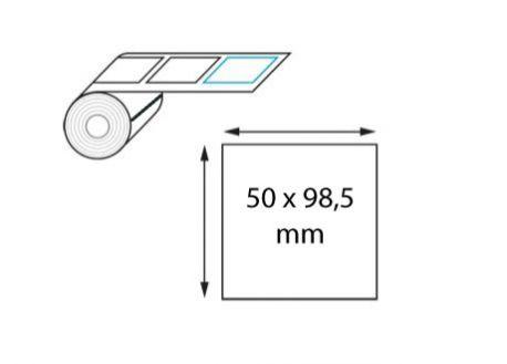 Étiquette logistique 50 x 98,5 mm transfert thermique en rouleau