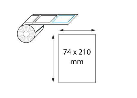 Étiquette logistique 74 x 210mm transfert thermique en rouleau