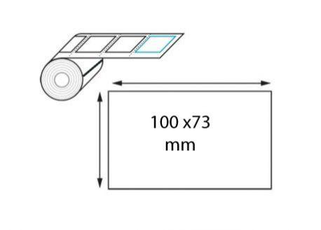 Étiquette logistique 100 x 73 mm transfert thermique en rouleau