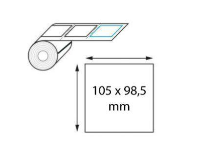 Étiquette logistique 105 x 98.5 mm transfert thermique en rouleau