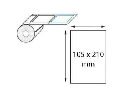 Étiquette logistique 105 x 210 mm transfert thermique en rouleau