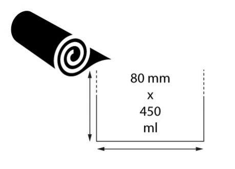 Ruban transfert cire 80 mm x 450 ml