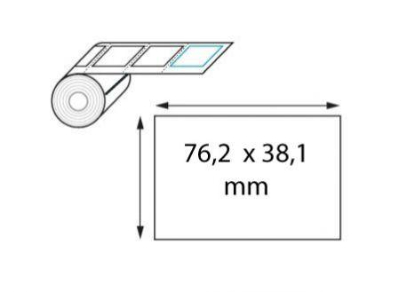 Étiquette logistique 76,2 x 38,1 mm velin thermique direct en rouleau / imprimante mobile
