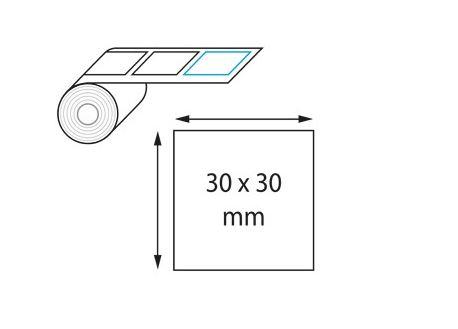 Étiquette adhésives carrée 30 x 30