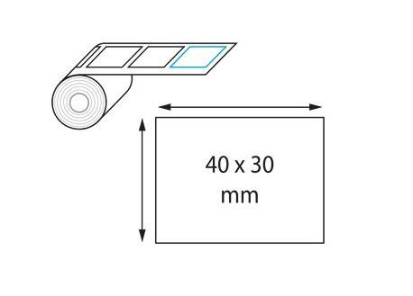 Etiquettes adhésives 40 x 30 mm par Digigraph