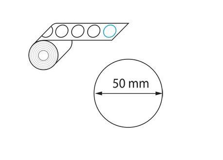 Etiquettes diamètre 50 mm jet d'encre et laser en rouleau