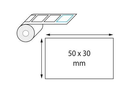 Etiquettes 50 x 30 mm jet d'encre et laser en rouleau