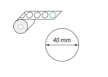 Étiquette sans découpe-diam 40mm-Digigraph