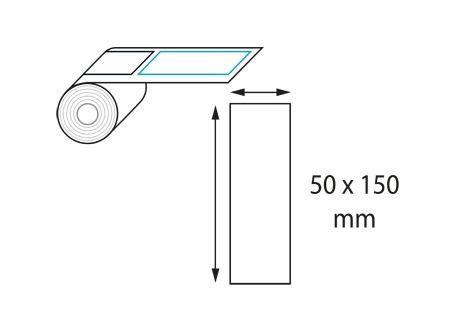 Etiquettes 50 x 150 mm jet d'encre et laser en rouleau