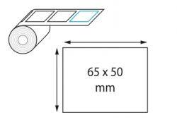 Etiquettes 65 x 50 mm jet d'encre et laser en rouleau