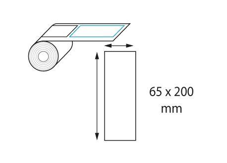Etiquettes 65 x 200 mm jet d'encre et laser en rouleau
