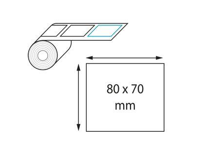 Etiquettes 80 x 70 mm jet d'encre et laser en rouleau