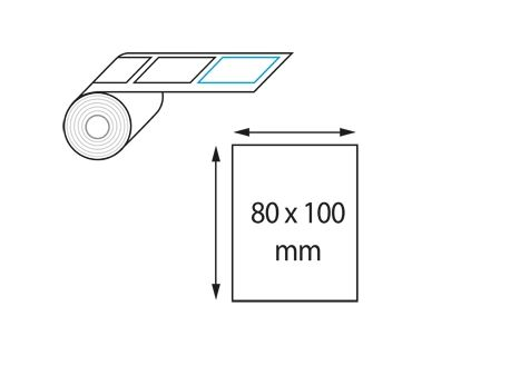 Etiquettes 80 x 100 mm jet d'encre et laser en rouleau