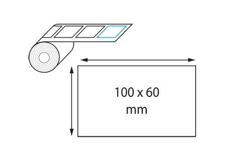 Etiquettes 100 x 60 mm jet d'encre et laser en rouleau