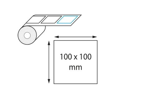 Etiquettes 100 x 100 mm jet d'encre et laser en rouleau