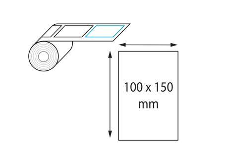 Etiquettes 100 x 150 mm jet d'encre et laser en rouleau