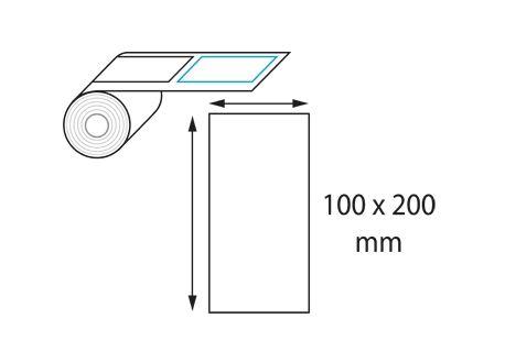 Etiquettes 100 x 200 mm jet d'encre et laser en rouleau