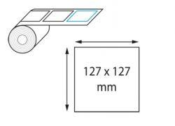 Etiquettes 127 x 127 mm jet d'encre et laser en rouleau