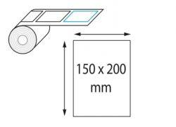 Etiquettes 150 x 200 mm jet d'encre et laser en rouleau