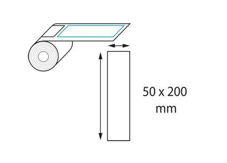 Etiquettes 50 x 200 mm jet d'encre et laser en rouleau